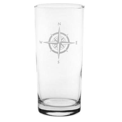 Compass Rose Cooler Highball 15oz (Set of 4)