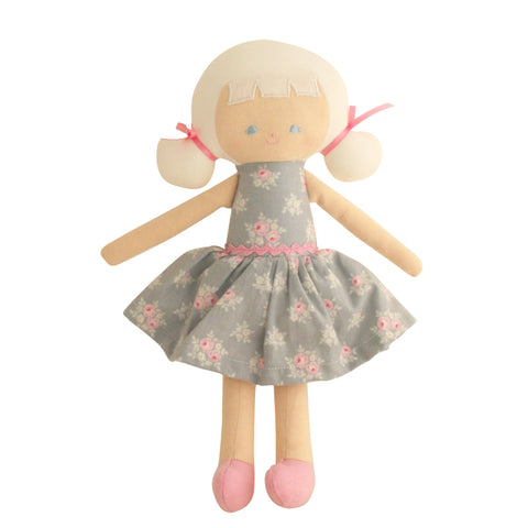 Alimrose: Audrey Doll Grey Floral - Luxe Gifts™