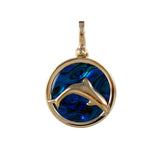"X"" Dolphin Sea Opal Pendant (Needs Pricing) - Lone Palm Jewelry"