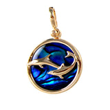 Swimming Dolphins Sea Opal Pendant (Needs Pricing) - Lone Palm Jewelry