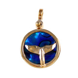 "X"" Whale Tail Sea Opal Pendant (Needs Pricing) - Lone Palm Jewelry"