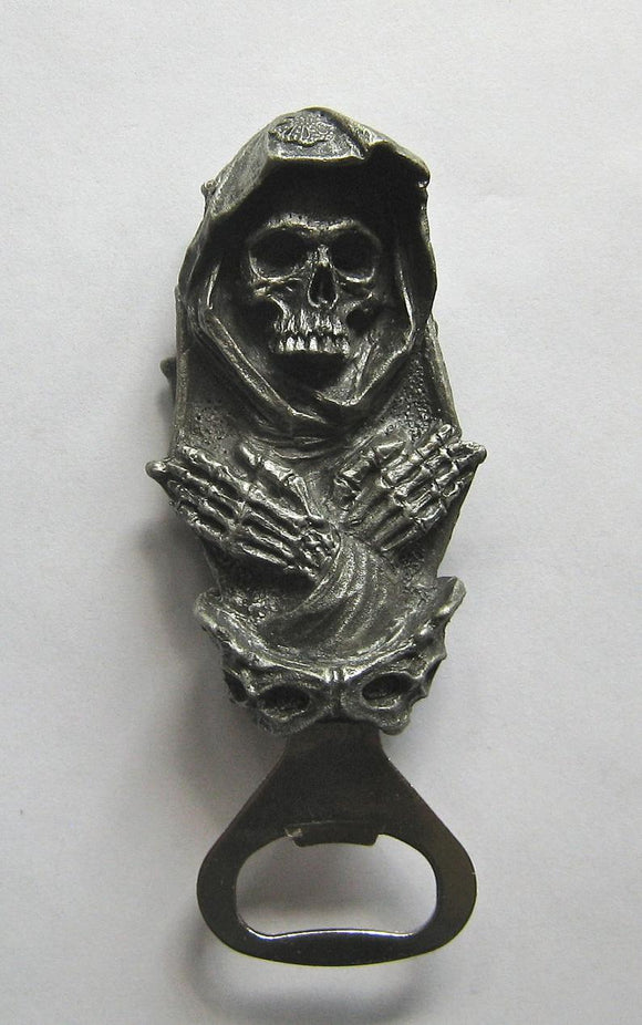 Skeletal Santa Muerte Bottle Opener