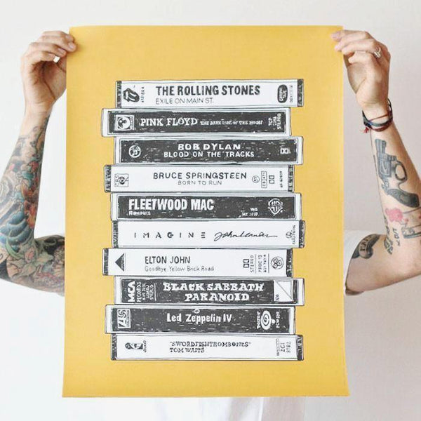 Cassette tape poster - Six Things - 2