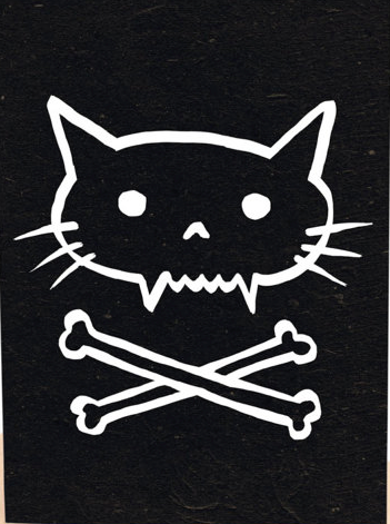 Pirate kitty cat print