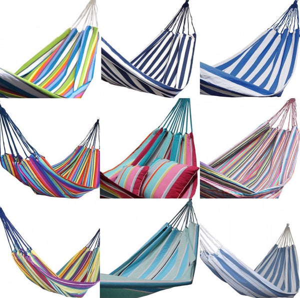 Bohemian tropical 100% cotton striped hammock