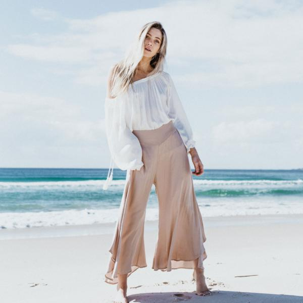 Ethereal Pants - Pants - losari - bohemian fashion - white - soft - beautiful