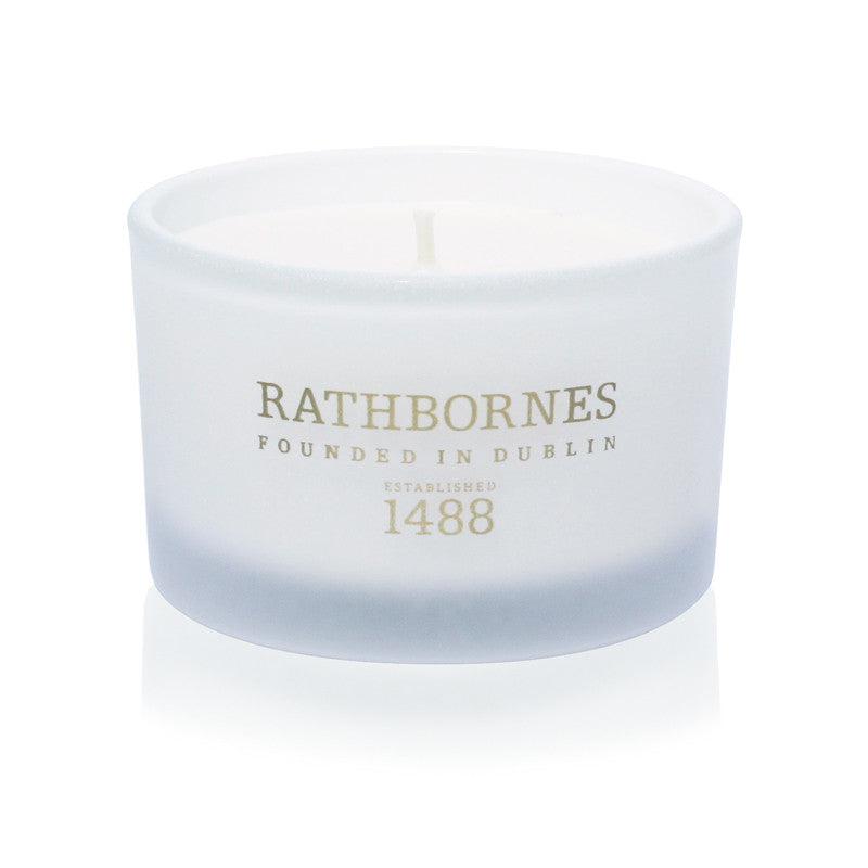 Dublin Tea Rose, Oud & Patchouli Scented Travel Candle