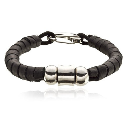 Fine Man Jewellery! MensSmart Slick Stylish Soft Leather Strips Strap Brown Cuff Bracelet Buffalo Leather & Stainless Steel. Lobster Stainless Steel Clip fasten. Beautiful Mocha.A masculine not over stated Jewellery for a safe choice
