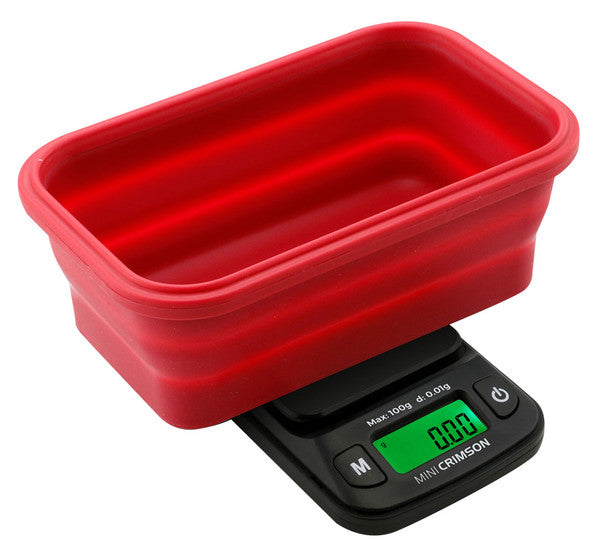 Truweight Mini Crimson Collapsible Bowl Scale 100g x 0.01g