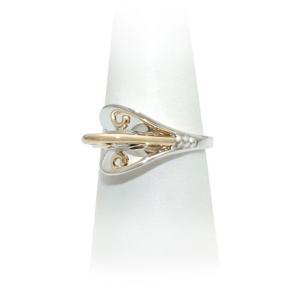 Size 8 - Silver & Gold Ring