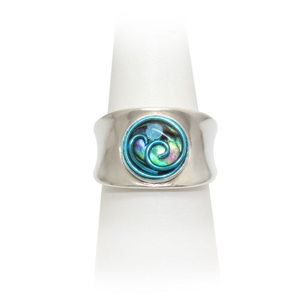 Size 7.75 - Sky Abalone Ring