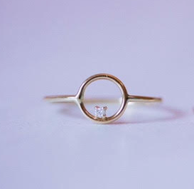 Full Moon Ring - 14k