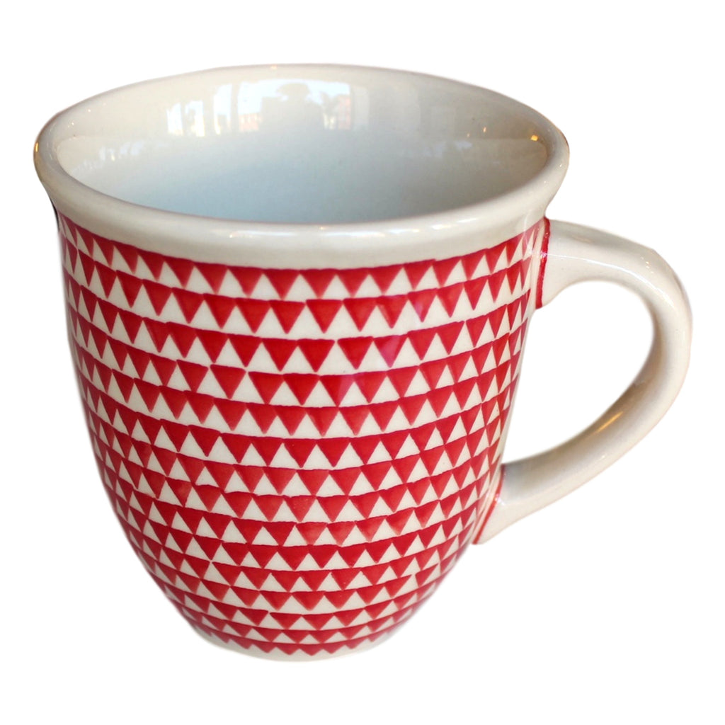 Triangles Red - Big Cup - PasParTou