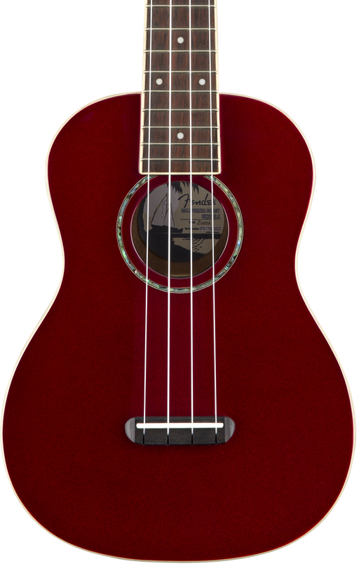 Fender Zuma Classic Concert Ukulele Candy Apple Red Walnut Fingerboard