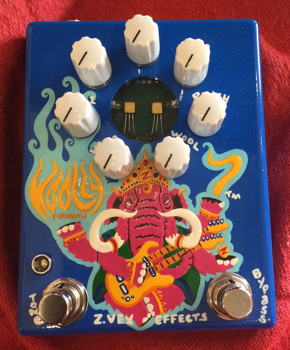 Zvex USA Made Handpainted Wooly Mammoth 7 WM7 Fuzz Guitar Pedal