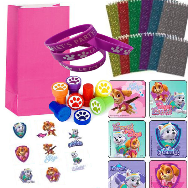 paw patrol girl pups favor set