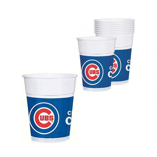 Chicago Cubs MLB 16 oz Plastic Cups - 20 count