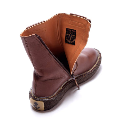 Oil Leather Popeye Boots Brown