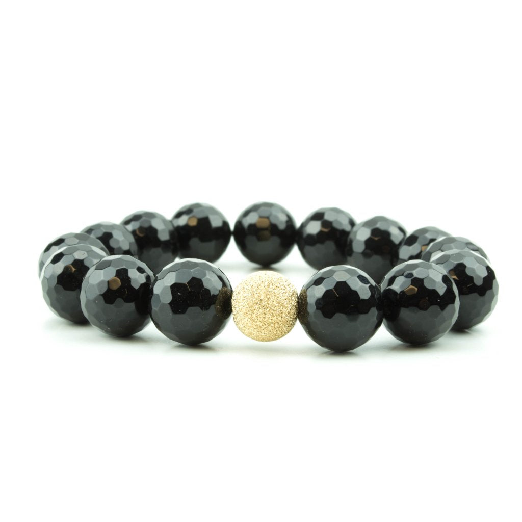 Black Faceted Onyx