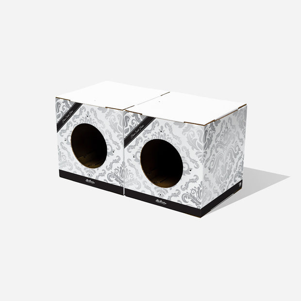 2 Pack Floral Cat Box