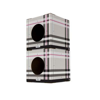 plaid cat box toy