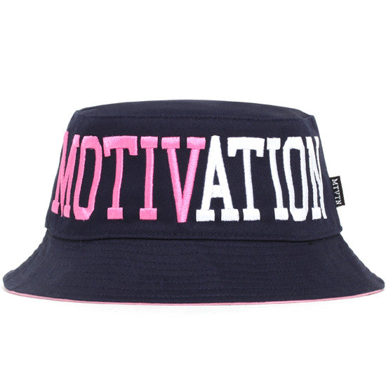 Split Logo Bucket Hat Navy / Pink