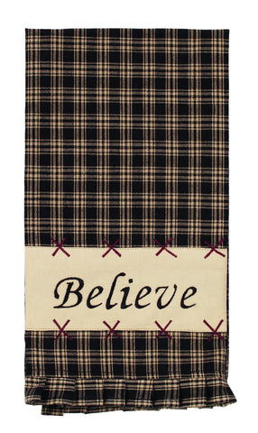 Cambridge Black Believe Dishtowel
