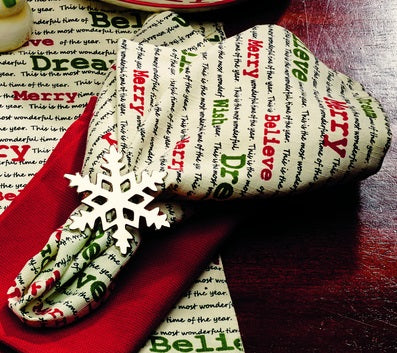 Christmas Wishes Napkin