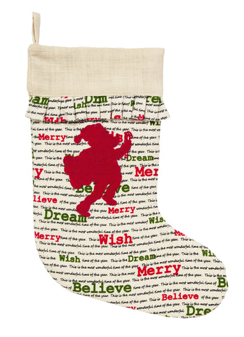 Christmas Wishes Santa Stocking