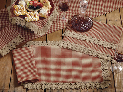 Ava Wine - Burgundy Long Table Runner