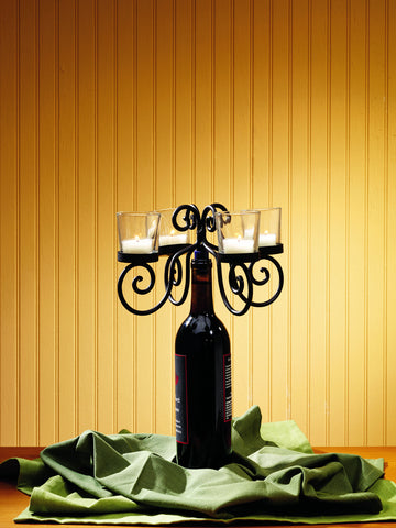 Four Candle Wine - Burgundy Bottle Topper