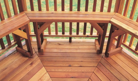 Cedarshed gazebo benches