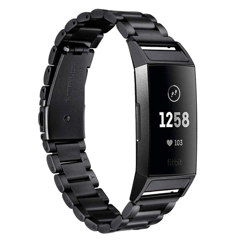 Metal Strap for Fitbit Charge 3 - Black