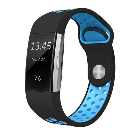 Rubber Sports Strap for Fitbit Charge 2 - Blue