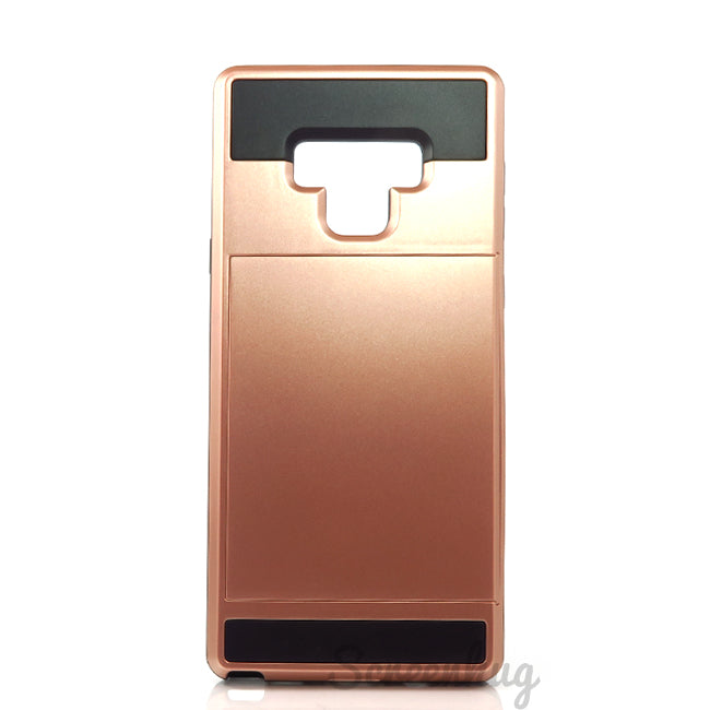 Tough Card Slider Case for Samsung Galaxy Note 9 - Rose Gold - screenhug