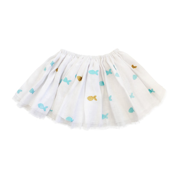 Oh Baby! Fairy Skirt | Fishy Fishy - Green Hearts Pink