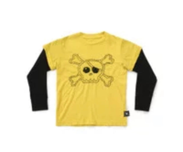 Nununu LS Skull T-Shirt | Dusty Yellow