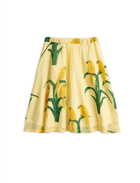 Mini Rodini Parrot Woven Long Skirt | Yellow