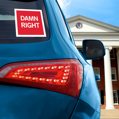 "HYDR ""Damn Right"" Decal"