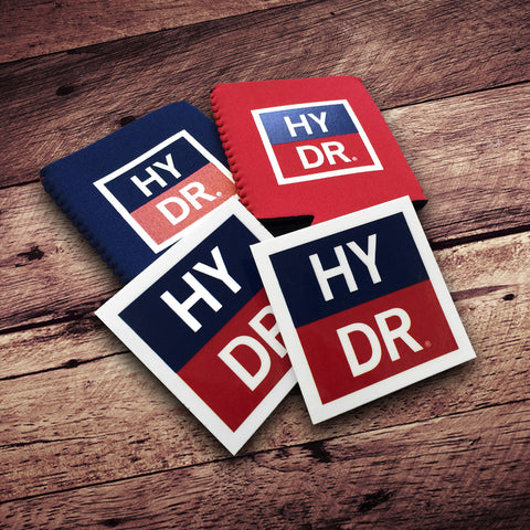 HYDR Decal / Koozie Combo Pack