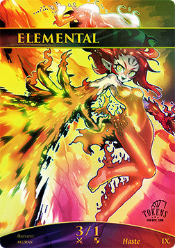 Elemental 3/1  Token for MTG FOIL