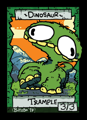 Dinosaur Token for MTG (Butzbo)