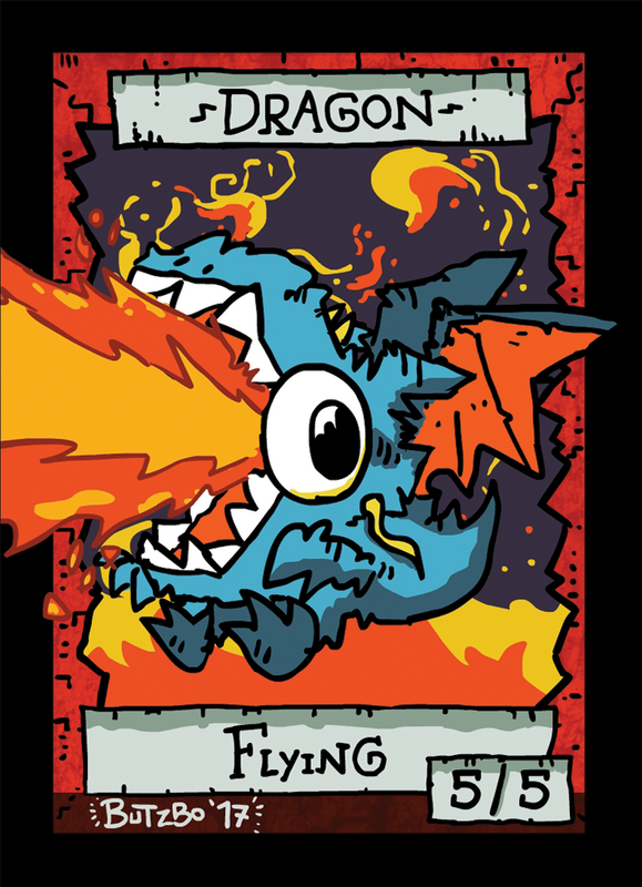 Dragon Token for MTG (Butzbo) Token Butzbo - Cardamajigs