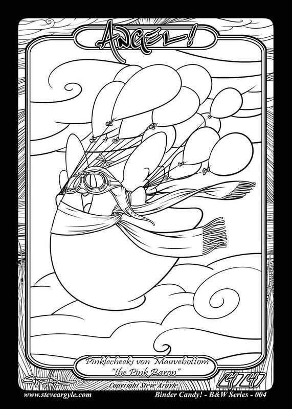 Angel Coloring Token for MTG (Steve Argyle) Token Steve Argyle 2 - Cardamajigs