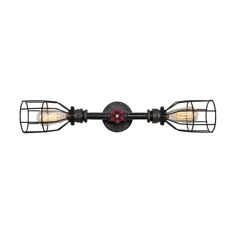 Double Wall Sconce with Red Valve