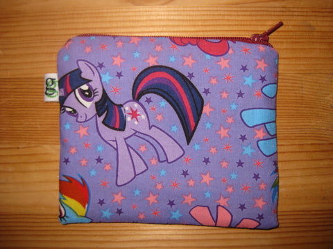 Padded Zip Pouch purse Gadget Coin Case - My Little Pony print - groovygurls