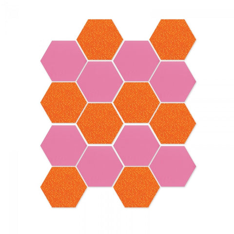 "Die Cut, Hexagons, 1/2"" Sides"