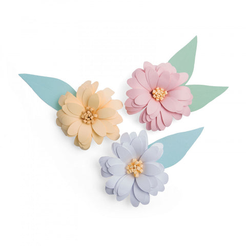 rolled flower, felt flowers, daisy, die-cut daisy