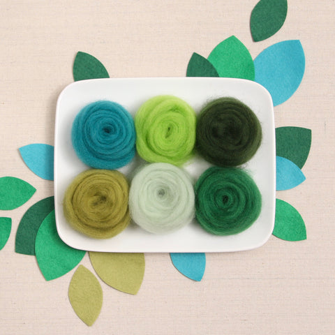 Green Palette Wool Roving