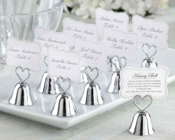 """Kissing Bell"" Place Card/Photo Holders-Placecard Holders-Kate Aspen-Sweet Heart Details"
